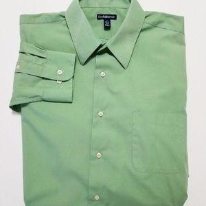CROFT & BARROW Mens Green Dress Shirt